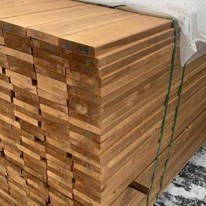 Massivholz Thermo Pappel für Terrasse