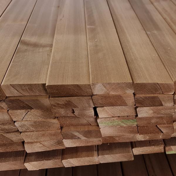 Rhombusleisten Massivholz Thermo Espe 25 x 75 mm