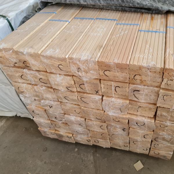Terrassendielen Sibirische Lärche Grob/Fine Geriffelt 27 x142 x 4000 mm